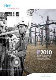 Rapport du Président du Conseil de surveillance 2010 - RTE