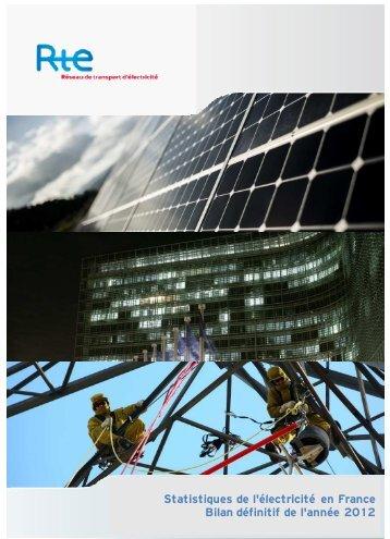 Statistiques de l'énergie électrique en France 2012 - RTE