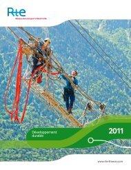 Rapport Développement durable 2011 - RTE