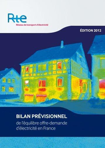 Bilan Prévisionnel 2012 - Espace clients - RTE
