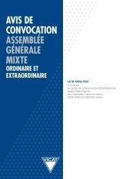 avis de convocation assemblée générale mixte ordinaire et ... - Vicat