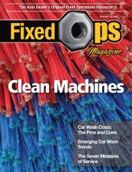 Clean Machines - Fixed Ops Magazine
