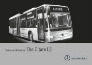Technical information The Citaro LE
