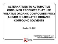ALTERNATIVES TO AUTOMOTIVE CONSUMER PRODUCTS THAT ...