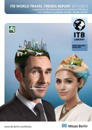 itb world travel trends report 2011/2012 - ITB Berlin Kongress