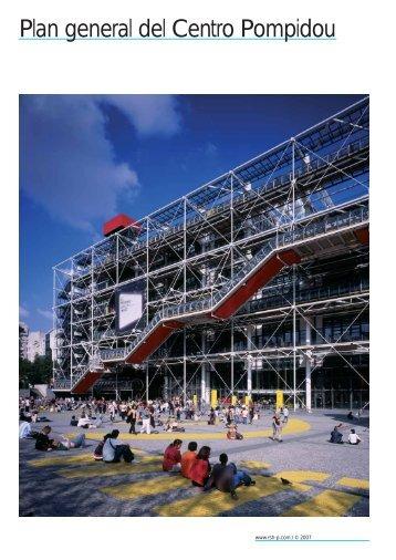 Plan general del Centro Pompidou