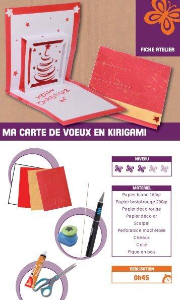 Ma Carte De Noel.Kirigami Magazines