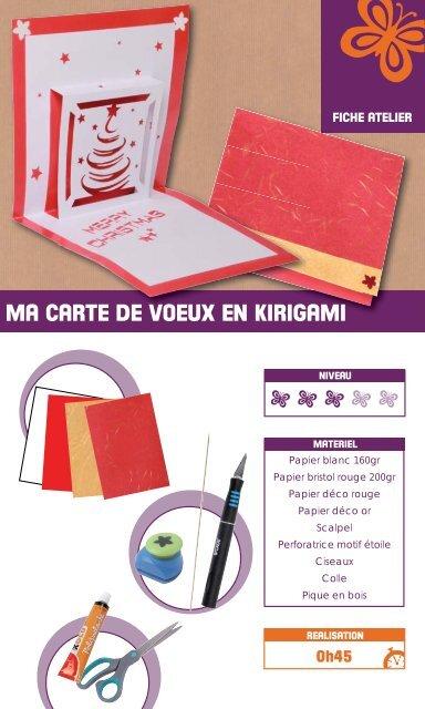 Ma Carte De Noel En Kirigami Xica Loisirsfr