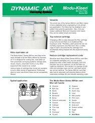 Modu-Kleen® Bin Vent Filter Series 669 - Chemical Processing