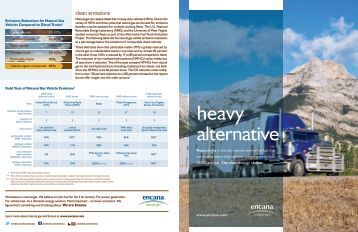 US Heavy alternative brochure - Encana