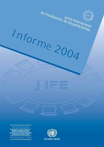 JIFE Informe 2004 - INCB