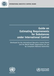 Guide on Estimating Requirements for Substances under ... - INCB