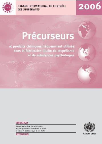 Précurseurs et produits chimiques fréquemment utilisés dans ... - INCB