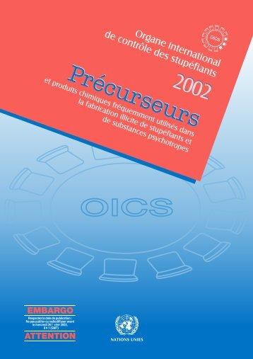 OICS Précurseurs Précurseurs - INCB