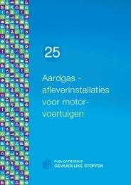 Aardgas - afleverinstallaties voor motor- voertuigen - Publicatiereeks ...