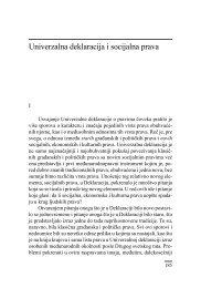 Univerzalna deklaracija i socijalna prava - komunikacija