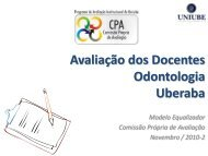 Avaliação dos Docentes Odontologia Uberaba - Uniube