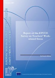 Report on the ETUCE Survey on Teachers' Work- related Stress