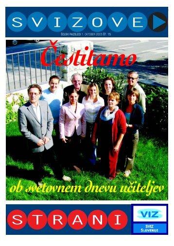 1. oktober 2005 - SVIZ