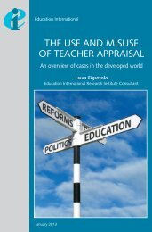 The use and misuse of teacher appraisal - Education International
