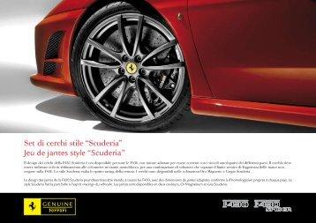 """Set di cerchi stile """"Scuderia"""" Jeu de jantes style """"Scuderia"""""""