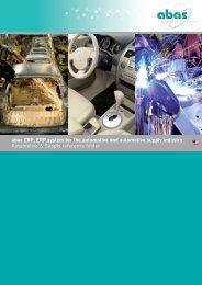 ERP system for the automotive industry - ABAS Software AG