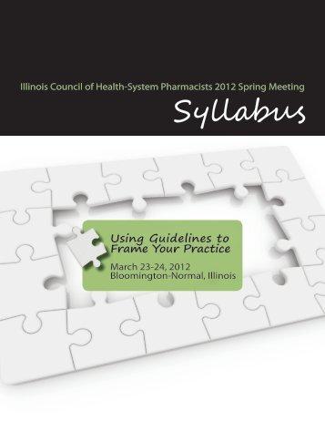 Syllabus_Spring_2012 - ICHP
