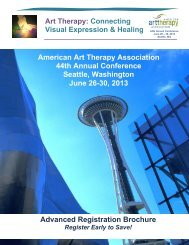 conference brochure - American Art Therapy Association