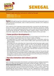 SENEgAl - L'afrique pour les droits des femmes