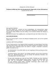Patienten-Aufklärung über die allergologische Diagnostik mit ... - DKG