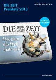 DIE ZEIT Preisliste 2013 - Academics.de