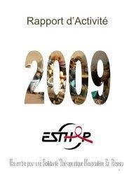 Rapport d'activité 2009 - Esther