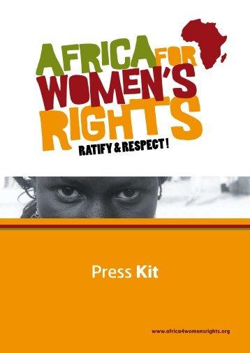 Press Kit - L'afrique pour les droits des femmes