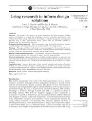 Using research to inform design solutions - Emerald