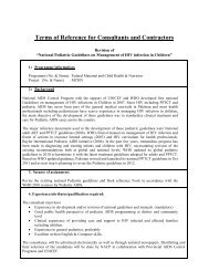 Terms of Reference for Consultants and Contractors - National AIDS ...
