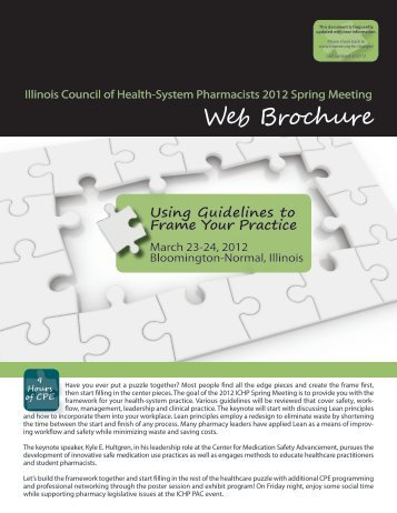 2012 ICHP Spring Meeting Web Brochure FINAL 032212