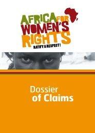 Dossier of Claims - L'afrique pour les droits des femmes