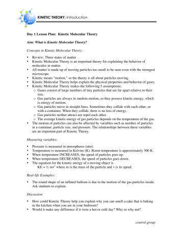 Printables Kinetic Molecular Theory Worksheet worksheet 9 partial pressures and the kinetic molecular theory aim