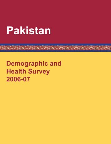 Demographic and Health Surveys