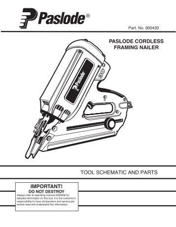 Parts Diagram Paslode