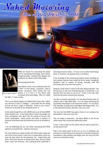 BMW X6 xDrive 40d - Naked Motoring SA