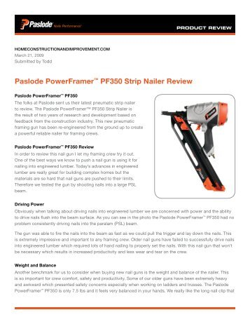 New framing tool Oper.Manual - Paslode Nails Performance