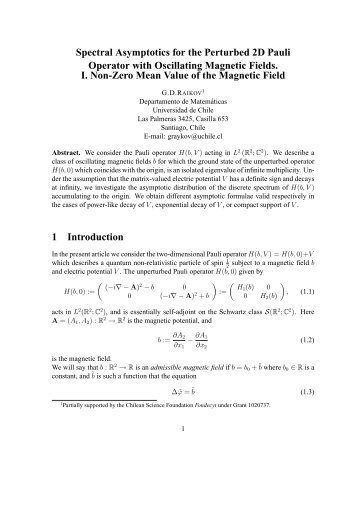 Spectral Asymptotics for the Perturbed 2D Pauli Operator with ...