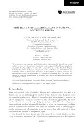 Time Delay and Calabi Invariant in Classical ... - World Scientific