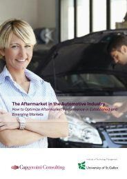 2 The Aftermarket in the Automotive Industry - Capgemini