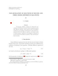 Non-Oscillation of solutions of second and third ... - Academia Sinica