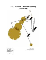 The Levers of American Striking Movements - Horology - The Index