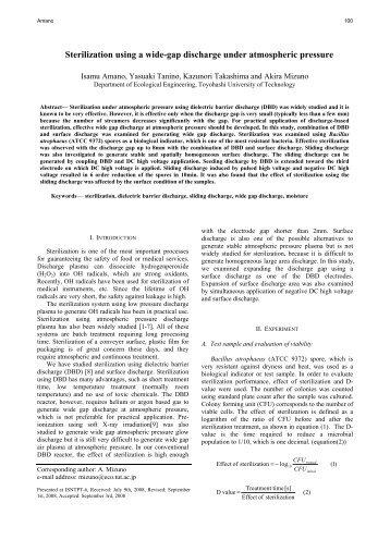 Sterilization using a wide-gap discharge under atmospheric pressure