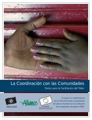 La Coordinación con las Comunidades - icaso