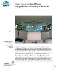 Entertainment Land Rover Range Rover, Discovery ...  - Eurologics